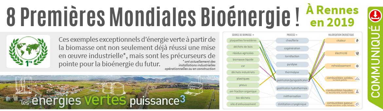 8 Premières Mondiales Bioénergie
